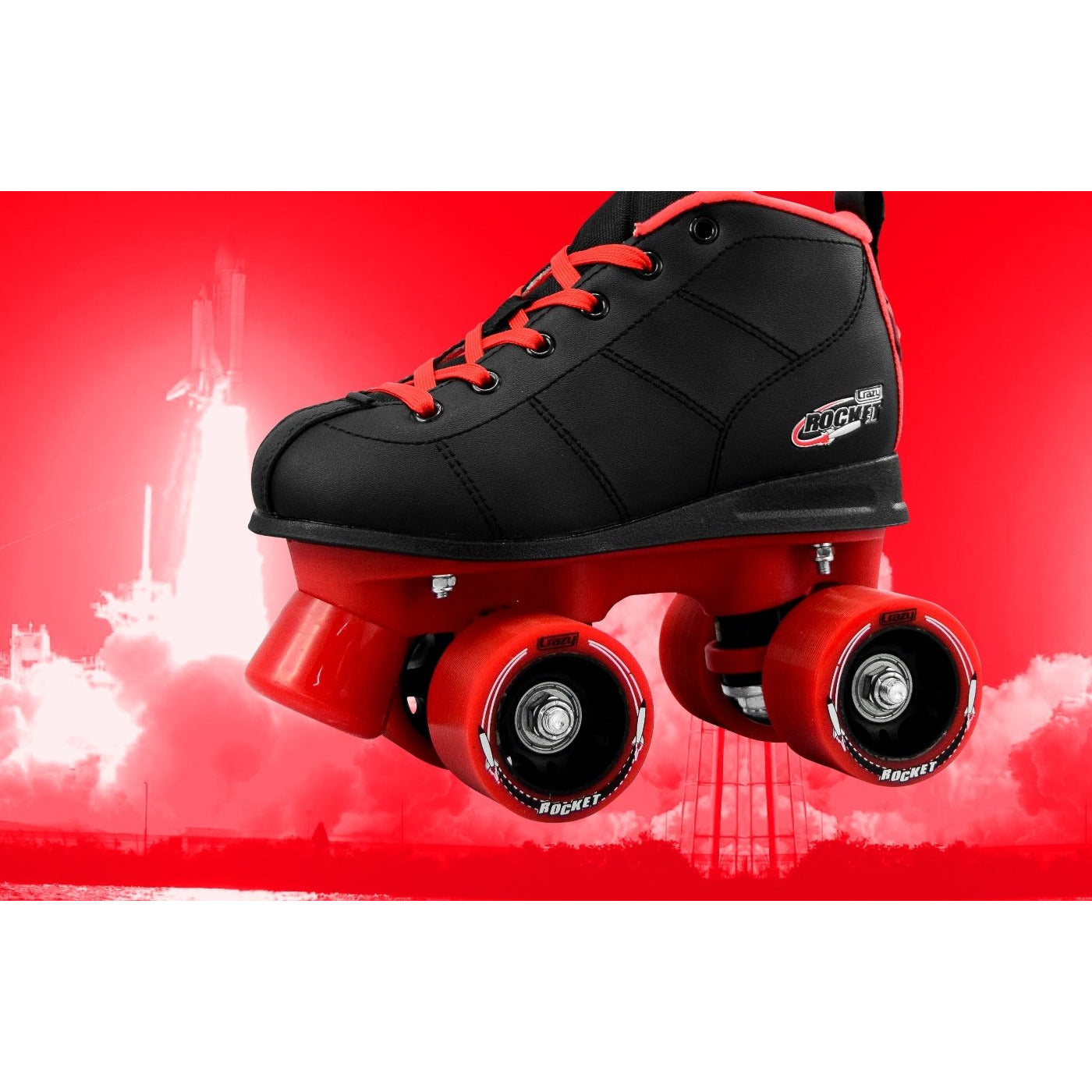 Crazy Skates Rocket Rollerskates Black/Red