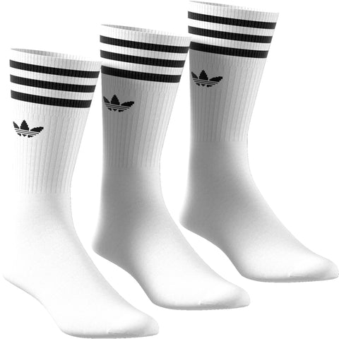 Adidas Solid Crew Sock White/Black