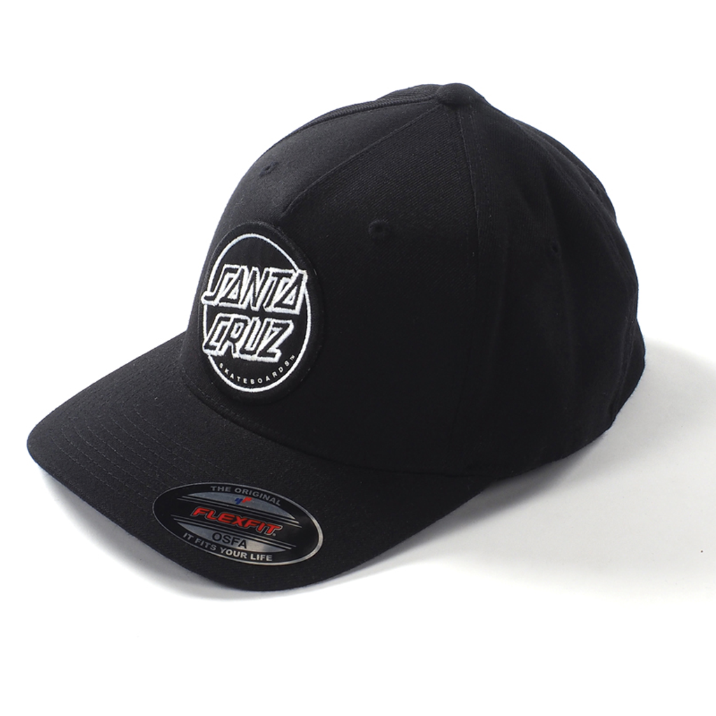 Santa Cruz Opus Dot Flexfit Cap Black