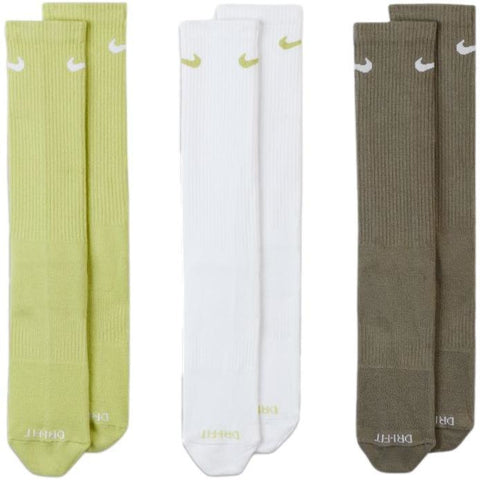 Nike Everyday Plus Socks 3-Pack Green / Neon Green / White