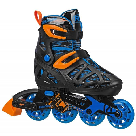 RDS Tracer Black/Orange Boys Adjustable Inline Skates