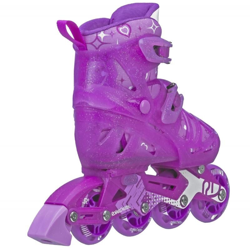 RDS Tracer Purple/White Girls Adjustable Inline Skates