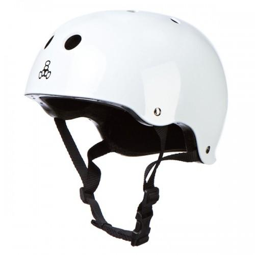 Triple 8 Skate Helmet SS White Gloss