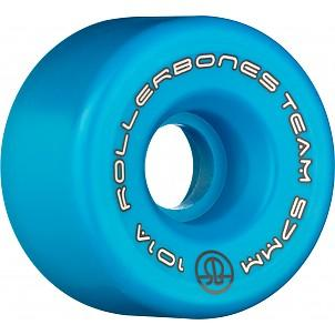 Bones Team Logo Wheels 62mm 101a Blue 8 Pack