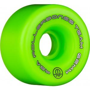 Bones Team Logo Wheels 62mm Green 8 Pack