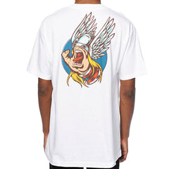 Santa Cruz X Marvel Comics Screaming Hand Thor Tee White