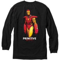 Primitive X Marvel Iron Man Moebius L/S Tee Black