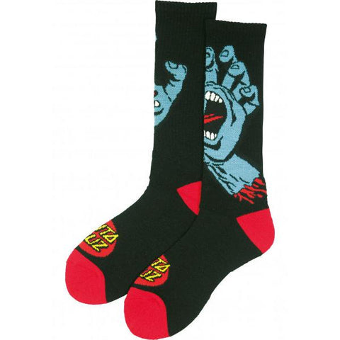 Santa Cruz Screaming Socks (2 pack) Black/Red
