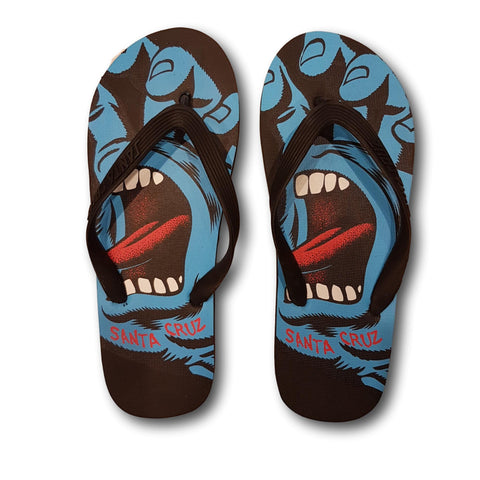 Santa Cruz Screaming Hand Flip Flops