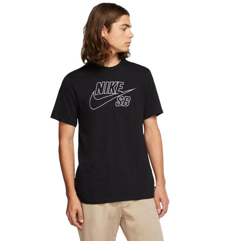 Nike SB Tee Embroidered Logo Black