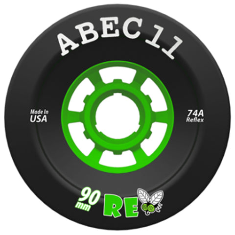 ABEC 11 Wheels Refly 90mm 74a Black 4 Pack