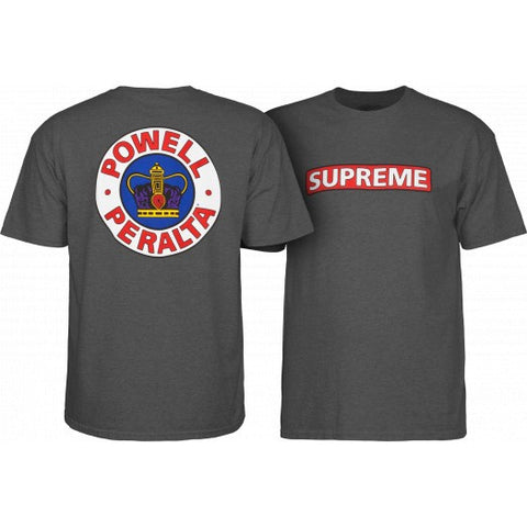 Powell Peralta Supreme Tee Charcoal Heather