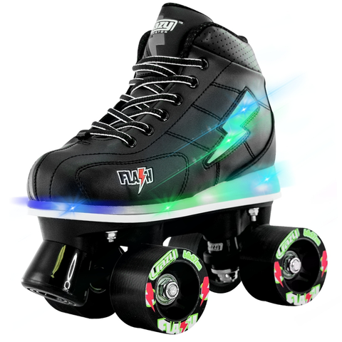 Crazy Skates Flash Black Rollerskates