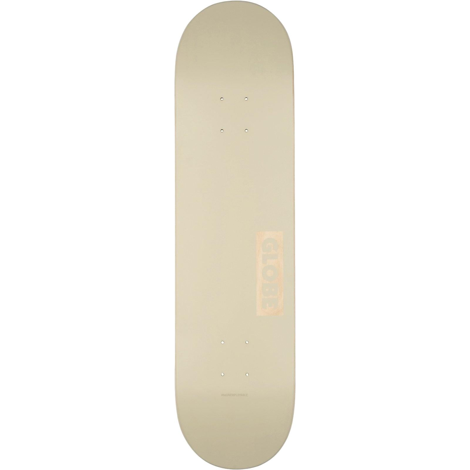 Globe Goodstock Skateboard Off White 8.0""