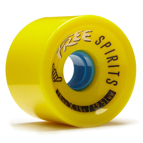 OMEN Wheels Free Spirits 70mm 78a Yellow 4 Pack