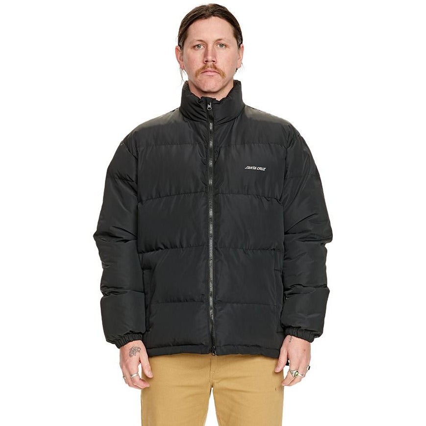 Santa Cruz Arco Puffer Jacket Black