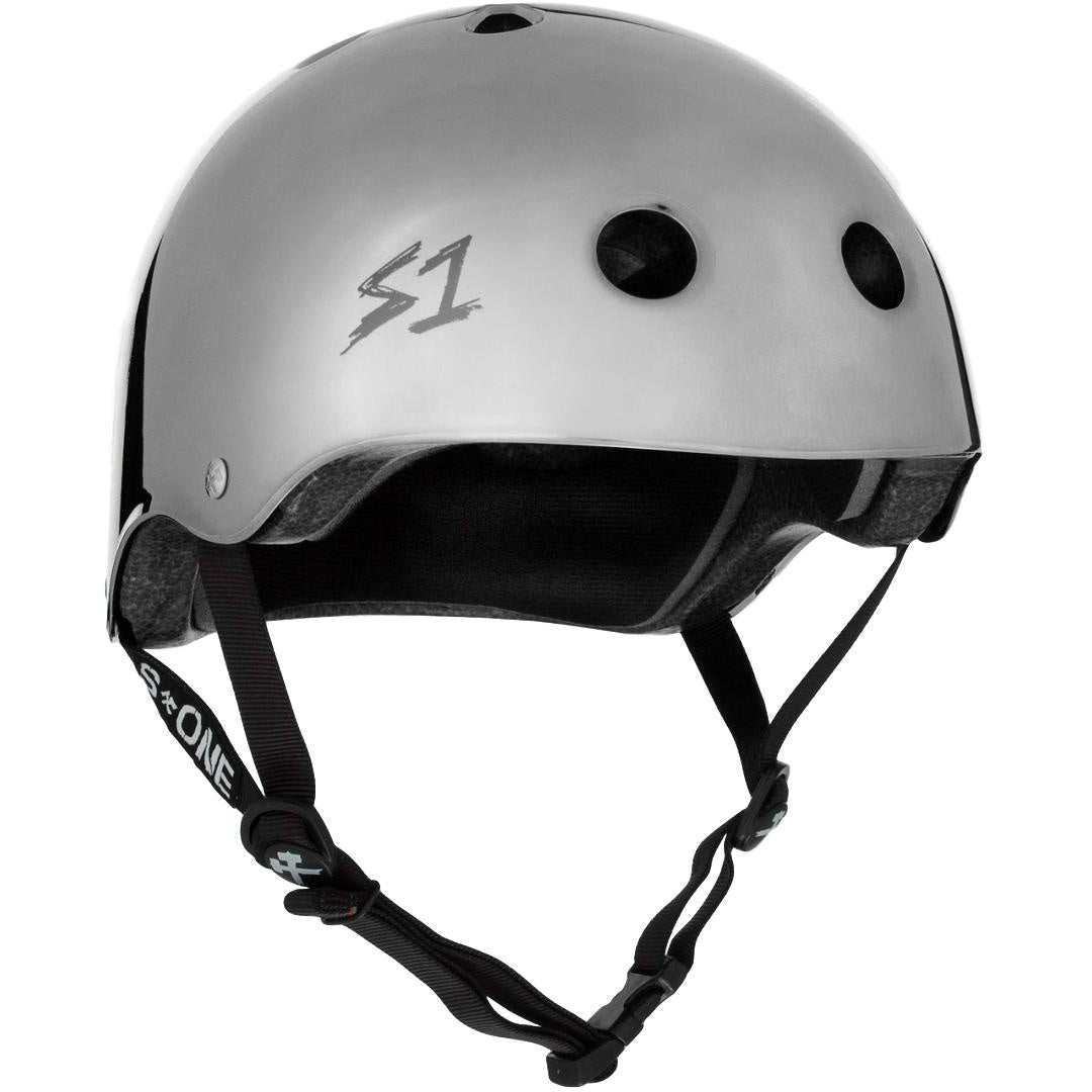 S-One Lifer Silver Mirror Helmet