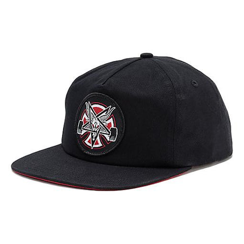 Thrasher Pentagram Cross Snapback Black