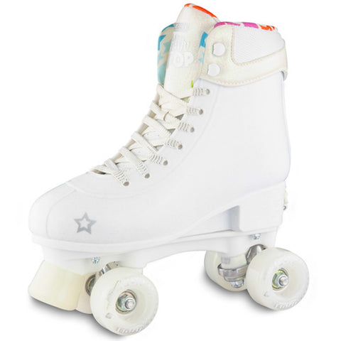 Crazy Skate Glitter Pop Adjustable Rollerskates White