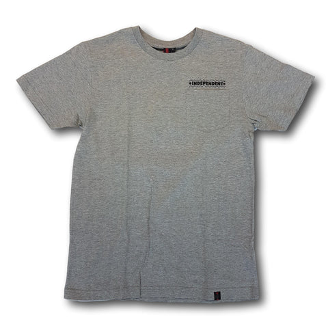 Independent Finishline Pocket Tee Grey Heather