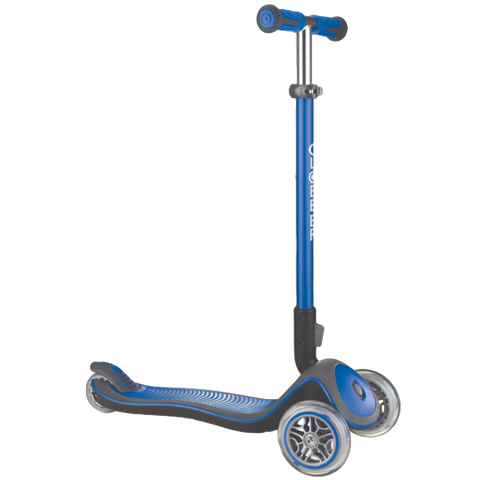 Globber Elite Deluxe Fold-Down Scooter Blue