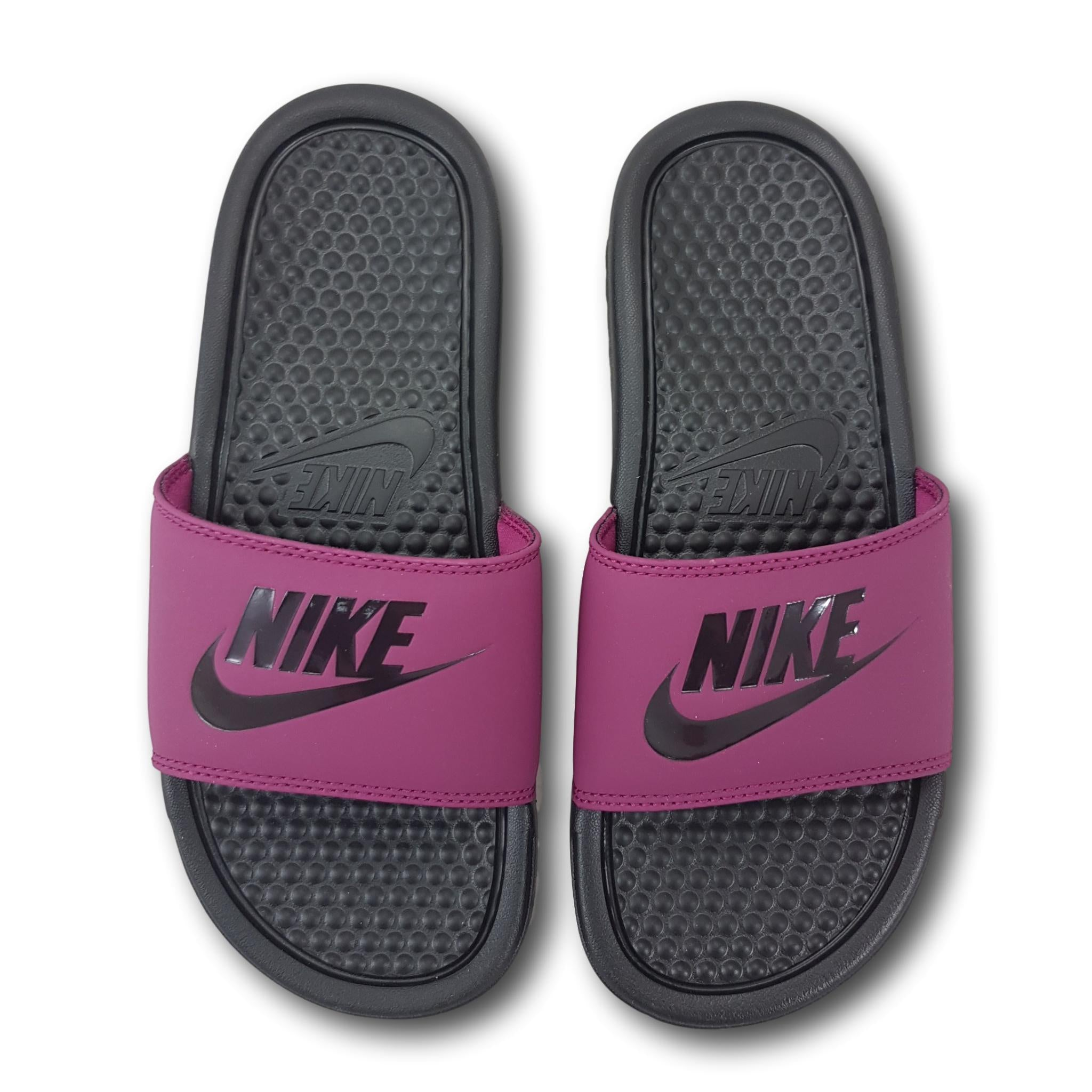 Nike Benassi JDI Slide Womens True Berry/ Burgundy Ash