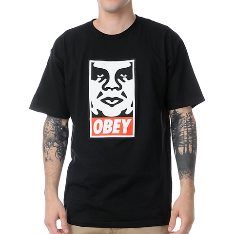 Obey Icon Face Black Tee