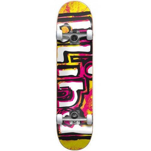 Blind OG Watercolor Yellow/Pink Complete Skateboard 6.75