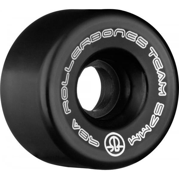 Bones Team Logo Wheels 62mm 101a Black 8 Pack