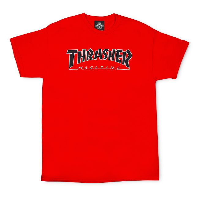 Thrasher Outlined S/S Tee Red