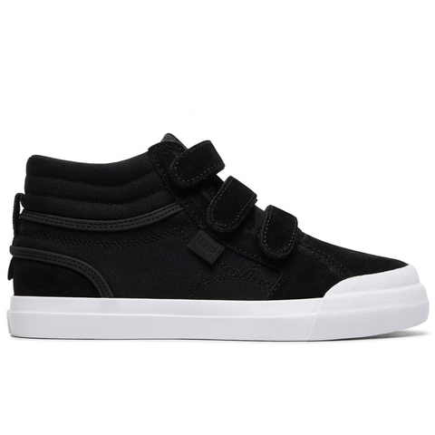 DC Evan Hi V Youth Shoe Black/White