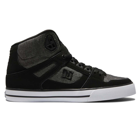 DC Pure High Top WC Mens Shoe Charcoal Heather