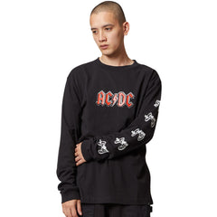 DC x ACDC About To Rock LS Tee Black
