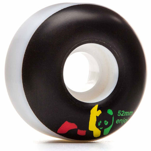 Enjoi Rasta Panda Skateboard Wheel 54mm Set 4 Pack