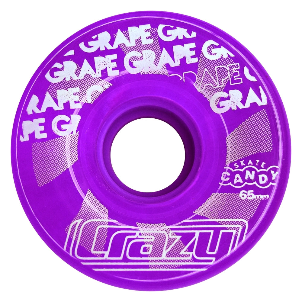 Crazy Skate Candy Outdoor Wheels 4pack 65mm/78a Purple Grape