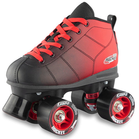 Crazy Skate Rocket Rollerskates Black/Red