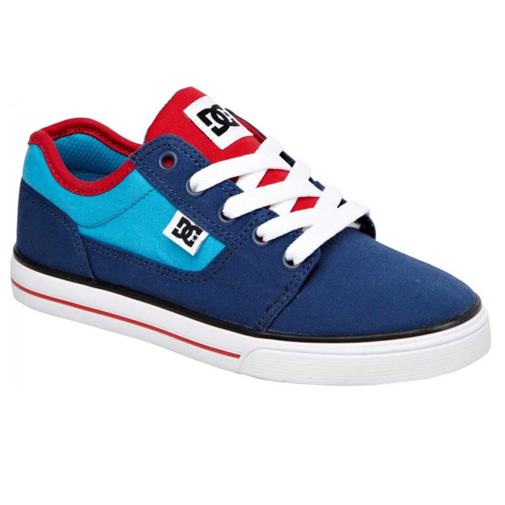 DC Bristol Canvas Youth Blue/Red