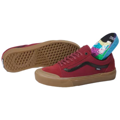 Vans Old Skool Pro BMX (Ty Morrow) Biking Red / Gum