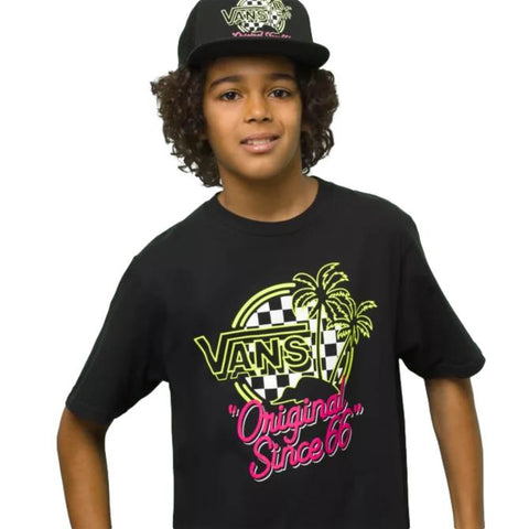 Vans Neo Palm SS Boys Tee Black (Glow In The Dark)