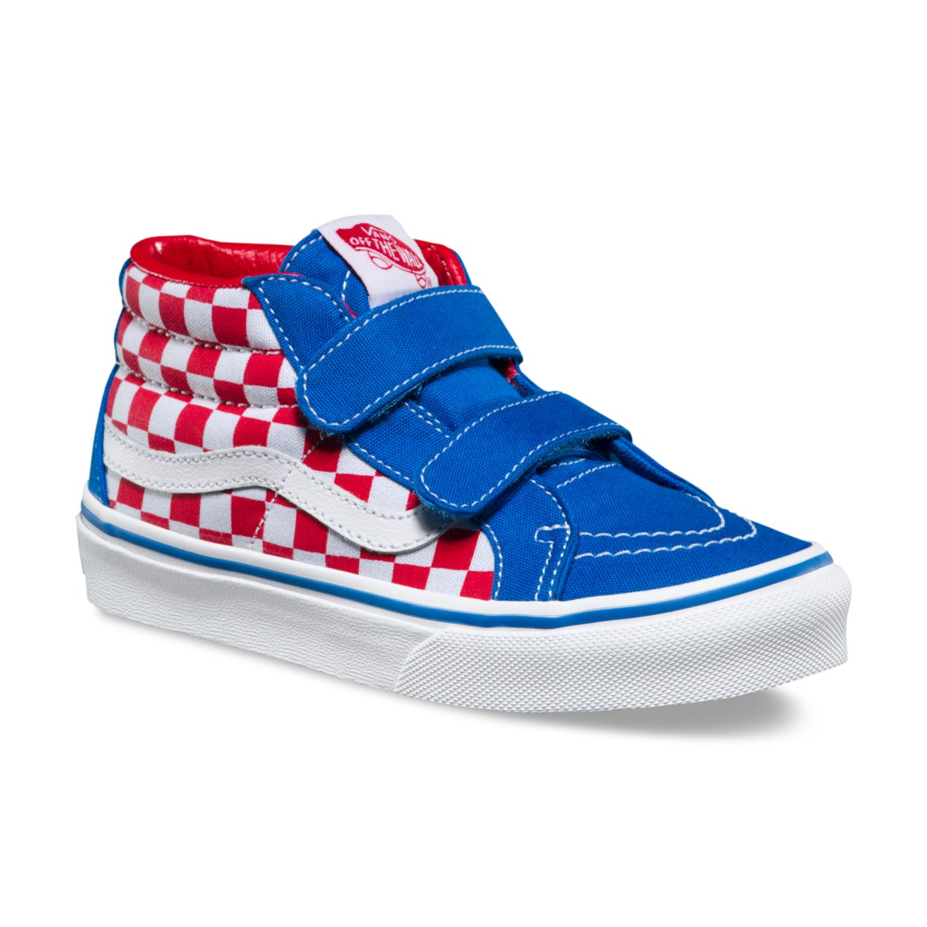 7fe13a1dab Vans Sk8-Mid Reissue V (Checkerboard) Racing Red
