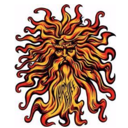 Santa Cruz Sungod Sticker