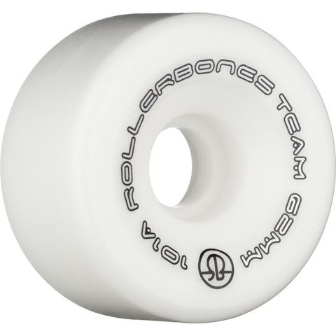 Rollerbones Team Logo Wheels 8 Pack White 62mm