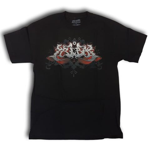 Tribal Ornate Zane Tee Black