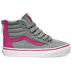 Vans Sk8-Hi Zip (Flower Zip) Monument/Berry
