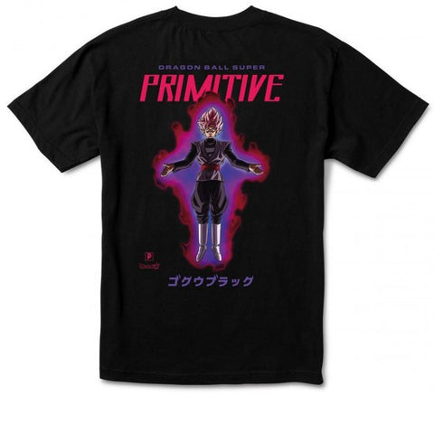Primitive Goku Black Rose Tee Black