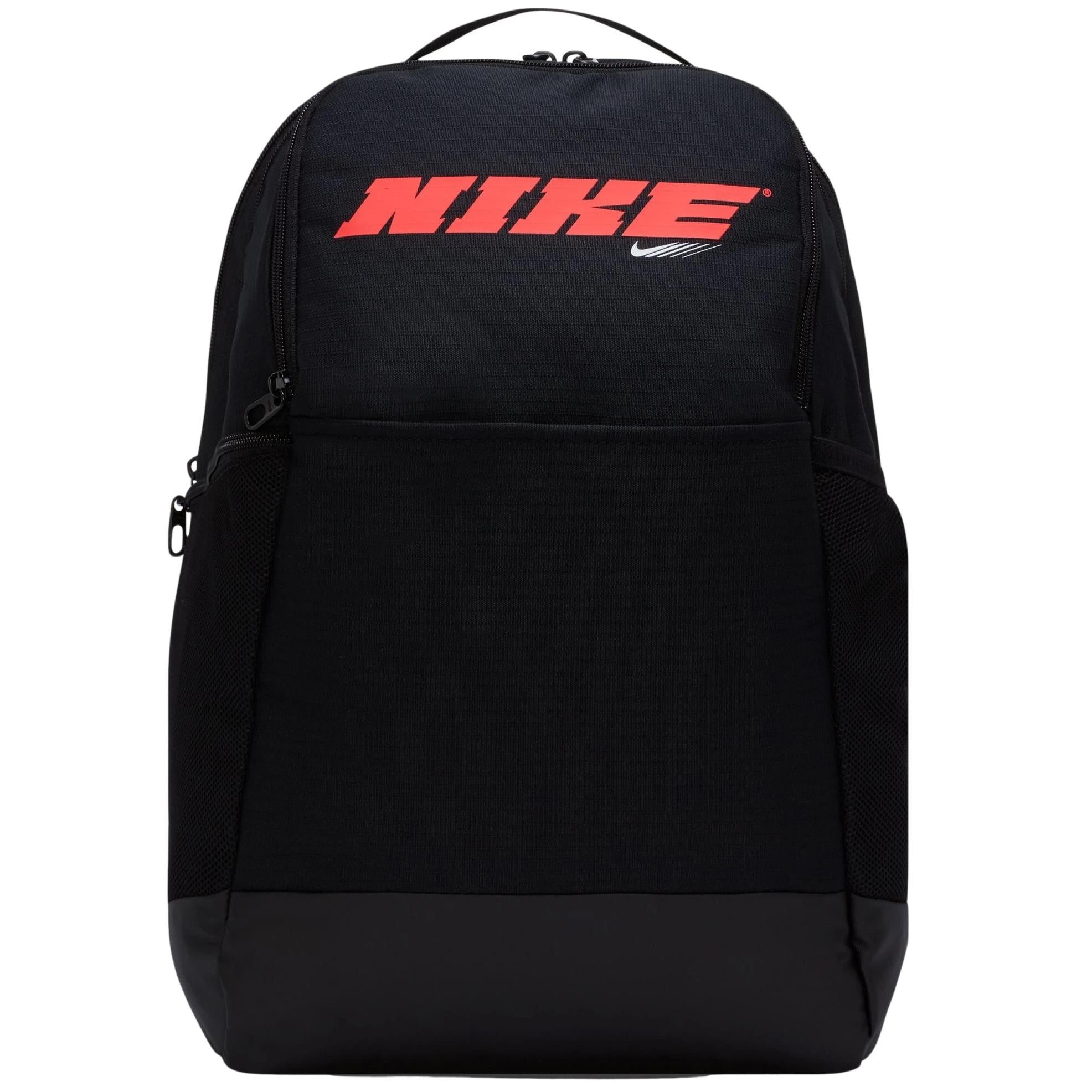 Nike Brasilia Backpack Black / Bright Crimson 9.0 PX