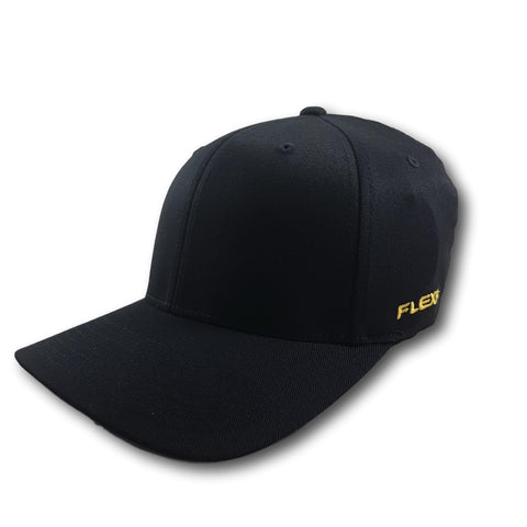 Flexfit Worn By The World Fitted Cap Black/Gold
