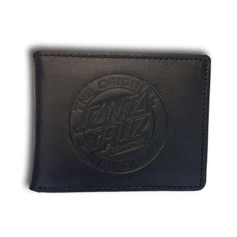 Santa Cruz Cali Dot Leather Wallet Black