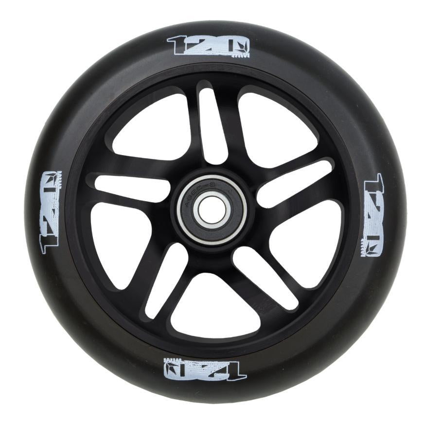 Envy 120mm Spoked Wheel Black