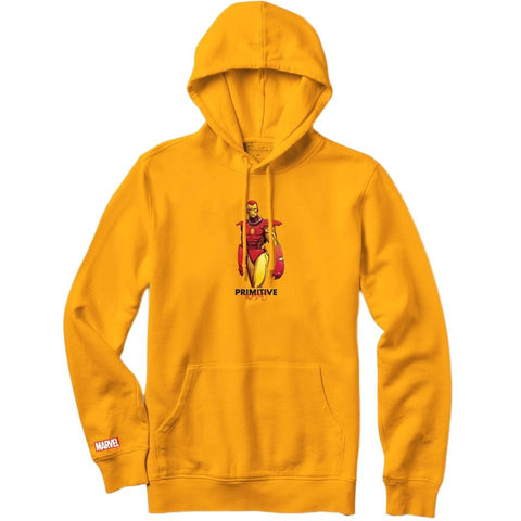 Primitive X Marvel Iron Man Moebius Hoody Gold